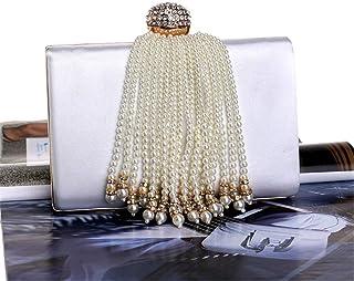 Fine Bag/Women Evening Bag Sphere Clutches Crystal Clutch Purse Handbags for Wedding Banquet Bag (Color : White, Size : ONESZIE)