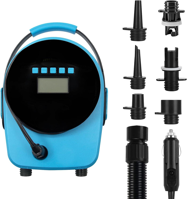 YUANMAN 20PSI SUP Free Shipping New Electric Air Pump LCD Portable Electri Spasm price Smart -