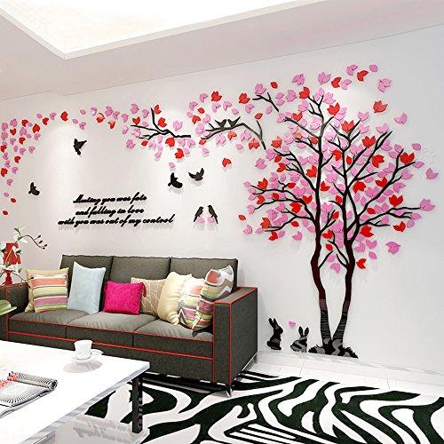 Alicemall 3D Wandaufkleber Wald Stereo Wandtattoo Abnehmbare Wohnzimmer Schlafzimmer Kinderzimmer Sofa Hintergrund Möbel - Muster 9