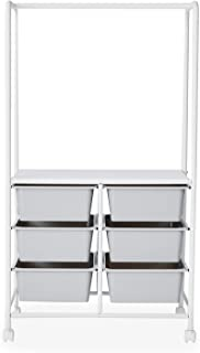 LOWYA ハンガーラック スリム コンパクト おしゃれ 収納 幅63.5cm ホワイト/グレー