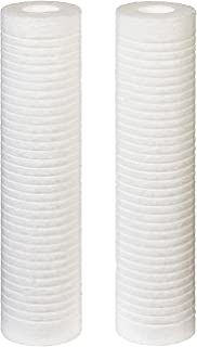Filtrete Standard Capacity Whole House Grooved Water Filter, 5 Microns, Universal Filter, Sump Style Drop-In Filter, 2-Filters (4WH-STDGR-F02)