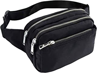 TOP-UP Fanny Packs for Women and Men Waist Pack Bag Cute Large Capacity Hip Bum Non-Slip Cotton Belt Durable Pouch for Outdoors Casual Travelling Hiking Cycling