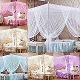 nuiOOui131-Bed Moskitonetz für Urlaub Indoor Romantic Princess Lace Baldachin Moskitonetz ohne Rahmen für Doppelbett, King-Size-Bett, Beige Full