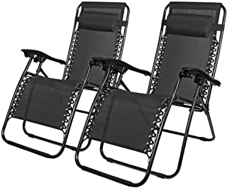 Zero Gravity Chair Patio Lounge Chair with Pillow Patio Recliner for Indoor Outdoor Recliner Patio Chair with Folding Func...