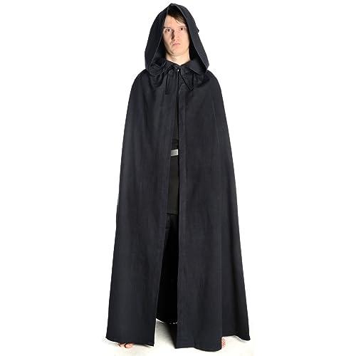 cedcfcb2f9 HEMAD Cape Medieval - Larp Cloak hooded black