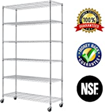 6 Tier Wire Shelving Rack,Steel Shelf 48