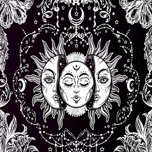 CNYG Moon Sun Tarot Series Tapiz Hippie Decoración para el hogar Tapiz Manta de Pared 1 150 * 130CM