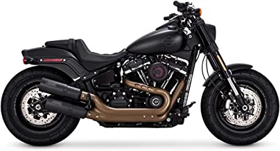 Vance & Hines 18-19 Harley FXBB Hi-Output Slip-On Exhaust (Black)