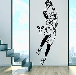 bulnn Lakers Wall Stickers Self Adhesive Art Wallpaper Decor Living Room Bedroom Basketball Decal Stickers 43X128Cm