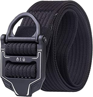 Men's Nylon Belt Regular & Plus Size Military Style Casual Army Outdoor Tactical Webbing Buckle Belt