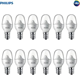 Philips LED 462977 7 Watt Equivalent Soft White Nightlight Candelabra Base, 12 Pack Piece