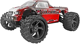 Redcat Racing Volcano-18 V2 Electric Monster Truck with Waterproof Electronics (1/18th Scale), Red