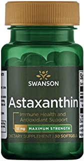 Swanson Maximum Strength Astaxanthin 12 Milligrams 30 Sgels