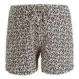 Queen Mum Damen Shorts Jersey AOP Doha Umstandsshorts, Schwarz (Black P090), 38 (Herstellergröße: M)