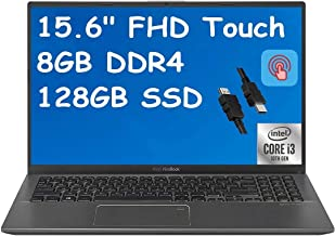 """2021 Flagship ASUS VivoBook 15 Thin and Light Laptop 15.6"""" FHD Touchscreen Display 10th Gen Intel Core i3-1005G1 (Beat i5-..."""