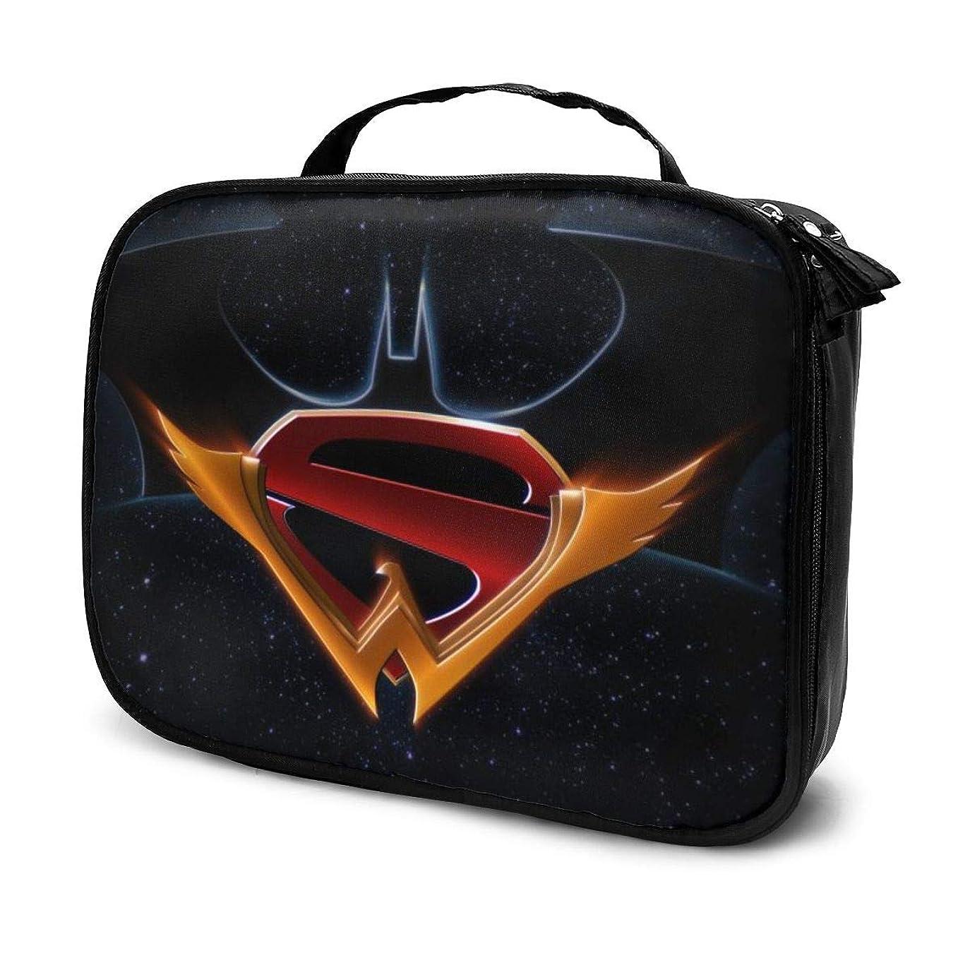 方法リーチアスペクトDaituバットマンスーパーマンワンダーウーマン 化粧品袋の女性旅行バッグ収納大容量防水アクセサリー旅行