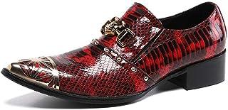 Chaussures en cuir pointues pour hommes,Chaussures d'uniformes habillées homme avec boucle en cuir véritable,Chaussures d'...