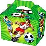 German Trendseller 8 x Fußball Party Boxen mit Griff zum Befüllen ┃ Fußball ┃ Ideal als Mitgebsel für Ihre kleinen Gäaste