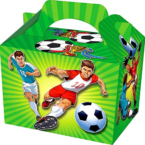 German Trendseller® - 8 x Football coffres au Anniversaire en Carton ┃ Party Loot ┃ avec poignée ┃Party