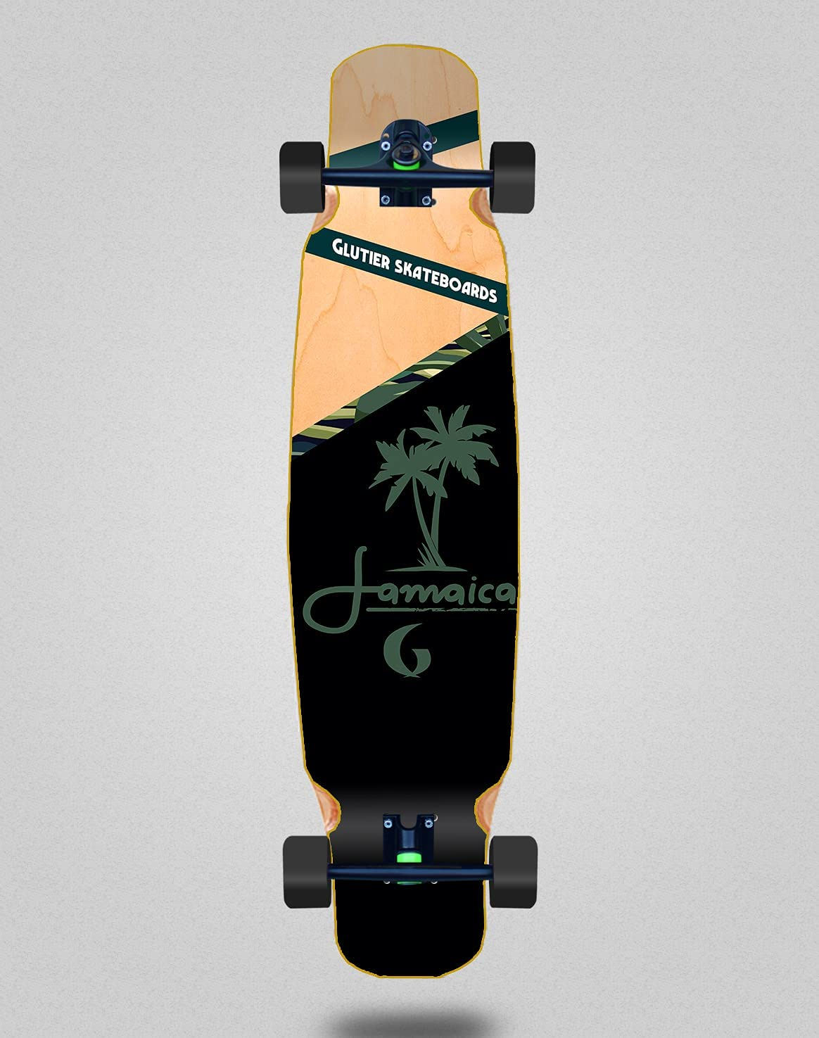 Miami Mall Skateboard Longboard Complete Mix Bamboo Wo Jamaica Glutier 70% OFF Outlet 46x9