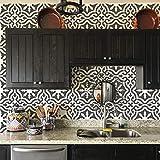 Toledo Tile Stencil for Painting Spanish Style Tiles - DIY Kitchen Backsplash and Floor Designs (Large 12'x12')
