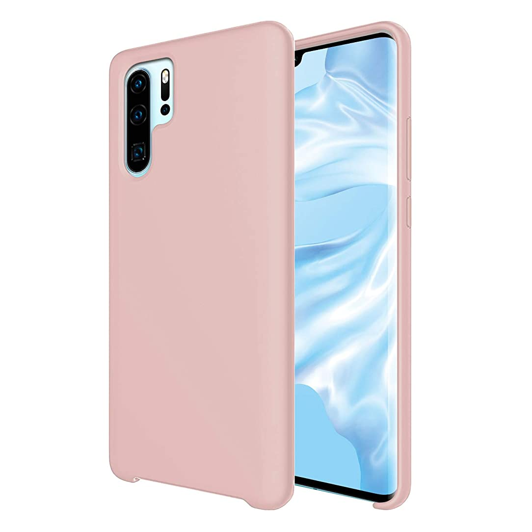 Orzero Liquid Silicone Gel Rubber Case Compatible for Huawei (P30 Pro) Full Body Shock Absorbing Ultra Slim Protective [Baby Skin Touch] -Pink