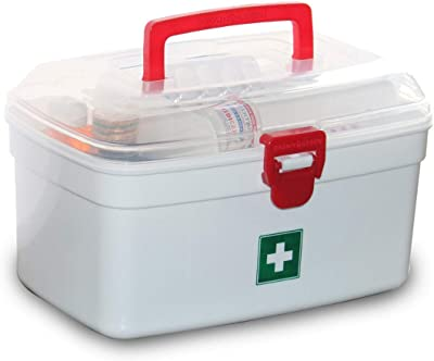 GURU ASHISH Multi-Function First Aid Medical Box, Plastic Art and Craft Storage Box, Tool Box and Sewing Box for Storage Container and Case with Handle