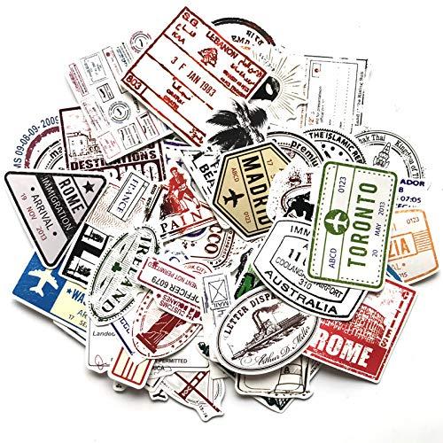 BLOUR bagage poststempel sticker retro brievenkop stempel sticker reis koffer sticker persoonlijkheid trolley geval gitaar graffitisticker
