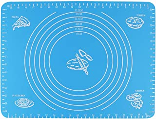 JASSINS Silicone Pastry Mat with Measurement, Baking Mat Cake Cookies Non Stick Dough Rolling Mat (19.6 x 15.7 inch)