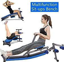 Multifunction Foldable Hydraulic Rowing Machine Sit Up Bench Push Ups Fitness Equipment Padded Seat Abdominal Machine