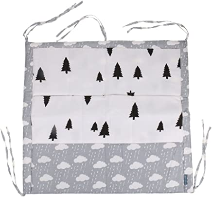 CUTICATE Pockets Hanging Over Door Wall Sock Crib Baby Organiser Storage Bag Cloud and Black Trees