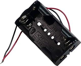 単3電池(AA形)用 2個タイプ バッテリーホルダー オープンタイプ 電池ケース 電池ホルダー リード線付き プラスチック製 (1個単品)