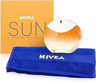 NIVEA SUN EdT Eau de Toilette (1 x 30 ml) con el original aroma de la crema solar NIVEA SUN perfume para mujer en un icón...