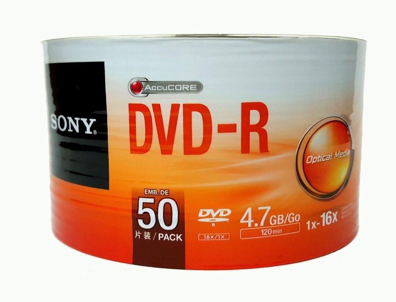 Sony DVD-R 16x, 50 - DVD+RW vírgenes (50, 4,7 GB, DVD-R, 120 min, Eje): Sony: Amazon.es: Informática