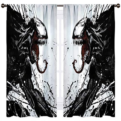 SSKJTC Venom - Cortinas aisladas térmicas sólidas para habitación de niños (100 x 100 cm)