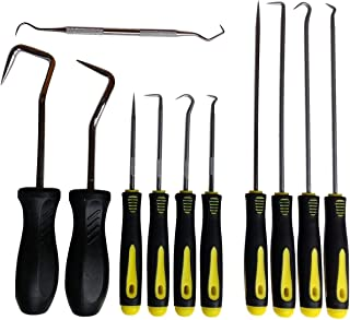 11 Pc. Hook & Pick Set, 4 Long + 4 Short + 2 Big + 1 O-rings Tool. Radiator Hoses, Grab, Retrieve, etc.