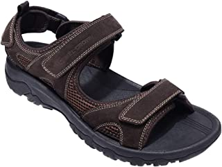 CAMEL CROWN Men's Synthetic Leather Sandals Open-Toe Beach Sandal Waterproof for Athletic Outdoor Summer