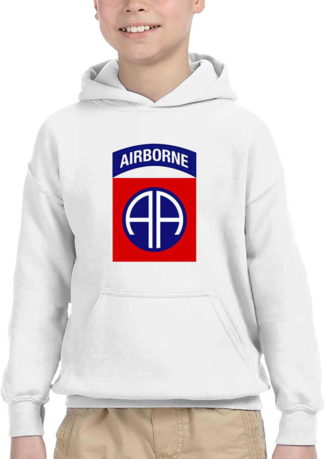 Army 82nd Airborne Division Teen Hooded Sweater Casual Hoodie For Baby Boys Girls