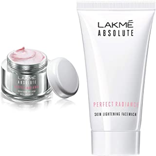 Lakme Perfect Radiance Fairness Day Creme 50 g & Lakme Absolute Perfect Radiance Skin Lightening Facewash, 50g