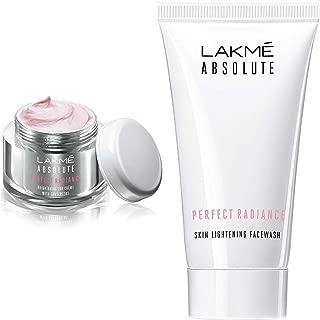 Lakmé Perfect Radiance Fairness Day Creme 50 g & Lakmé Absolute Perfect Radiance Skin Lightening Facewash, 50g