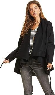SONJA BETRO Women's Draped Front High Low Hem Long Sleeve Jacket Fashion Plus Size