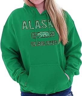 Alaska Polar Bear Vintage Gym Workout AK Hoodie
