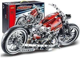 Kasstino 378Pcs Technic Motorcycle Exploiture Model Harley Building Toy Bricks Block Gift