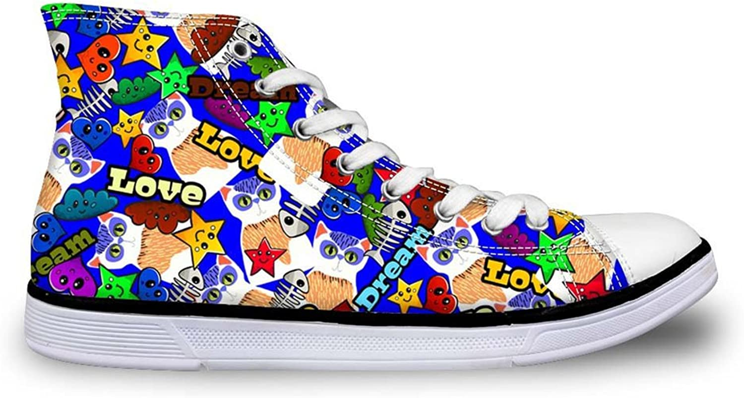 Mumeson Hip Hop Style Women High Tops Canvas shoes Sport Casual Sneakers