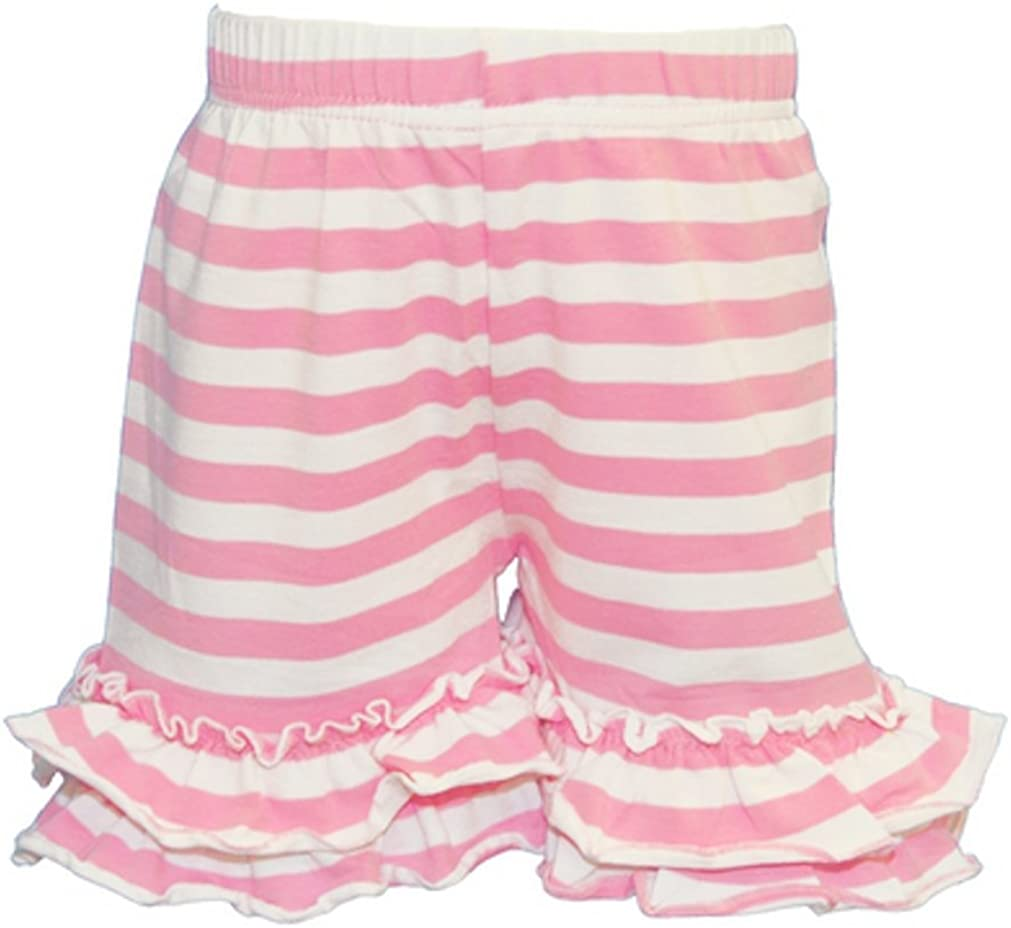 LC Boutique Girls Double Ruffle Striped Bike Shorts Dedication Thigh Si Branded goods Mid