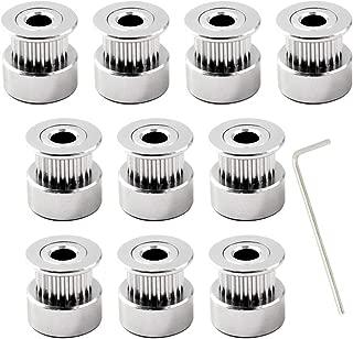 Schraubenschl/üssel enthalten GT2 pulley 36 teeth zahnriemenscheibe 5mm bohrung umlenkrollen f/ür seile 10mm 3D Drucker Zahnriemen Rolle Packung mit 4