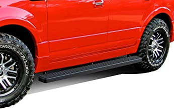 APS iBoard (Black Powder Coated 4in) Running Boards Nerf Bars Side Steps Step Rails Compatible with 2003-2017 Ford Expedition Sport Utility 4-Door (Exclude EL Model) (Not Fit Funkmaster Flex Edition)
