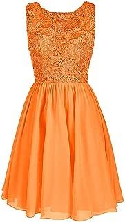 CladiyaDress Women Jewel Neck Sleeveless Short Bridesmaid Dress Homecoming Gown D106LF