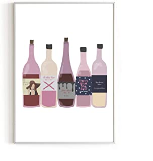 """RipGrip Urban Willow Wines Wall Art Print Alcohol, Cocktail, Mixology Themed Kitchen, Home, Office, Apartment Wall Decor 