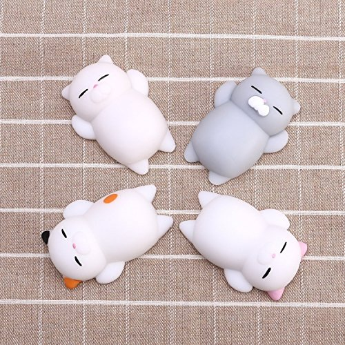 Healing Toys Stress Reliever Decor Relief Toy Slow Rising Toy for Kids Adults 4 PCS